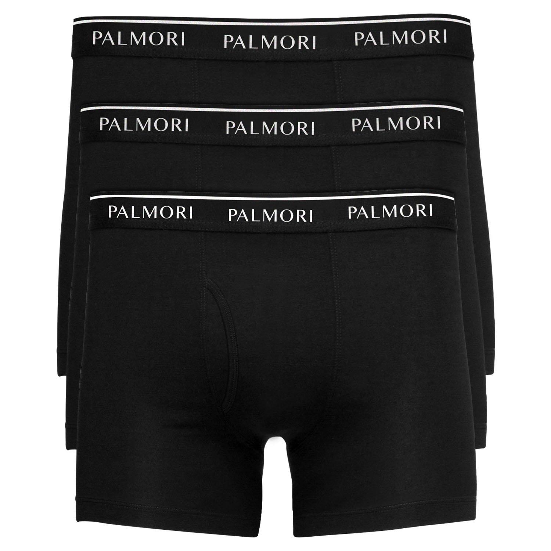 Palmori 3 Pack Men's Boxer Briefs, Cotton Underwear for Mens and Boys (Large, Black)