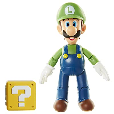 "World of Nintendo 4"" Luigi with Open Hands Toy Figure: Toys & Games"