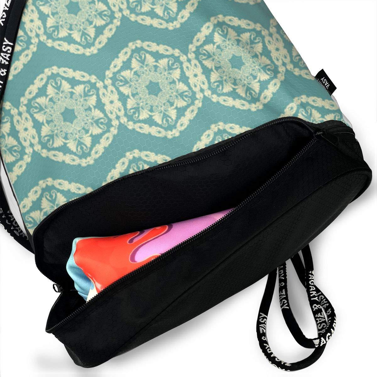 HUOPR5Q Green Drawstring Backpack Sport Gym Sack Shoulder Bulk Bag Dance Bag for School Travel