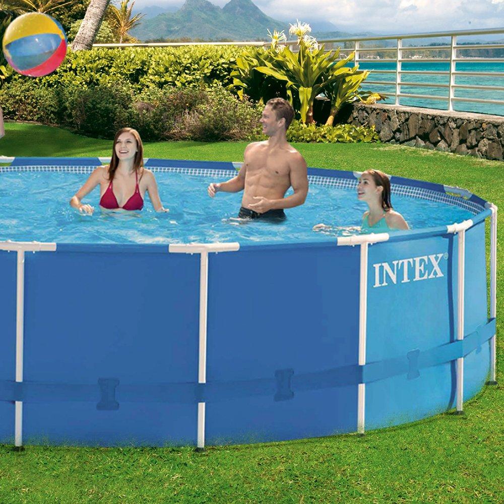 Intex Aufstellpool Frame Pool Set Rondo, Blau, Ø 457 x 107 cm ...