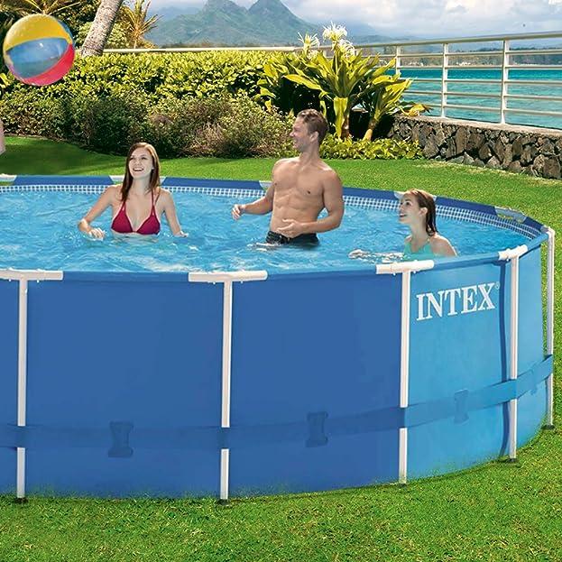 Intex Aufstellpool Frame Pool Set Rondo, Blau, Ø 457 X 107 Cm: Amazon.de:  Garten
