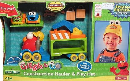 Sesame Street Giggle & Go Construction Hauler ...