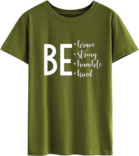 MIARORN Casual Carta Graciosa Estampado de Manga Corta Camiseta Slim Fit Túnica Tops: Amazon.es: Deportes y aire libre