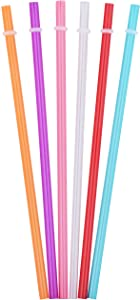 Tiki Tumblers Reusable Drinking Straws 6 Piece - Fits Tervis, Signature & Other Tumbler Brands Straws