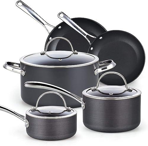 Cooks Standard Nonstick Hard Anodized Cookware Set, 8 Piece