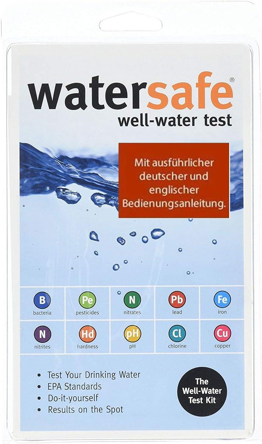 Kit de análisis de agua potable (10 pruebas diferentes en 1) con instrucciones de uso en alemán/inglés (idioma español no garantizado)
