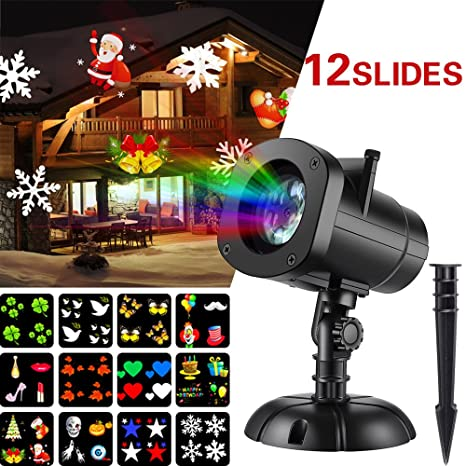 christmas lights projector halloween star christmas outdoor shower projector light 12 slides led landscape spotlights - Christmas Outdoor Spotlights