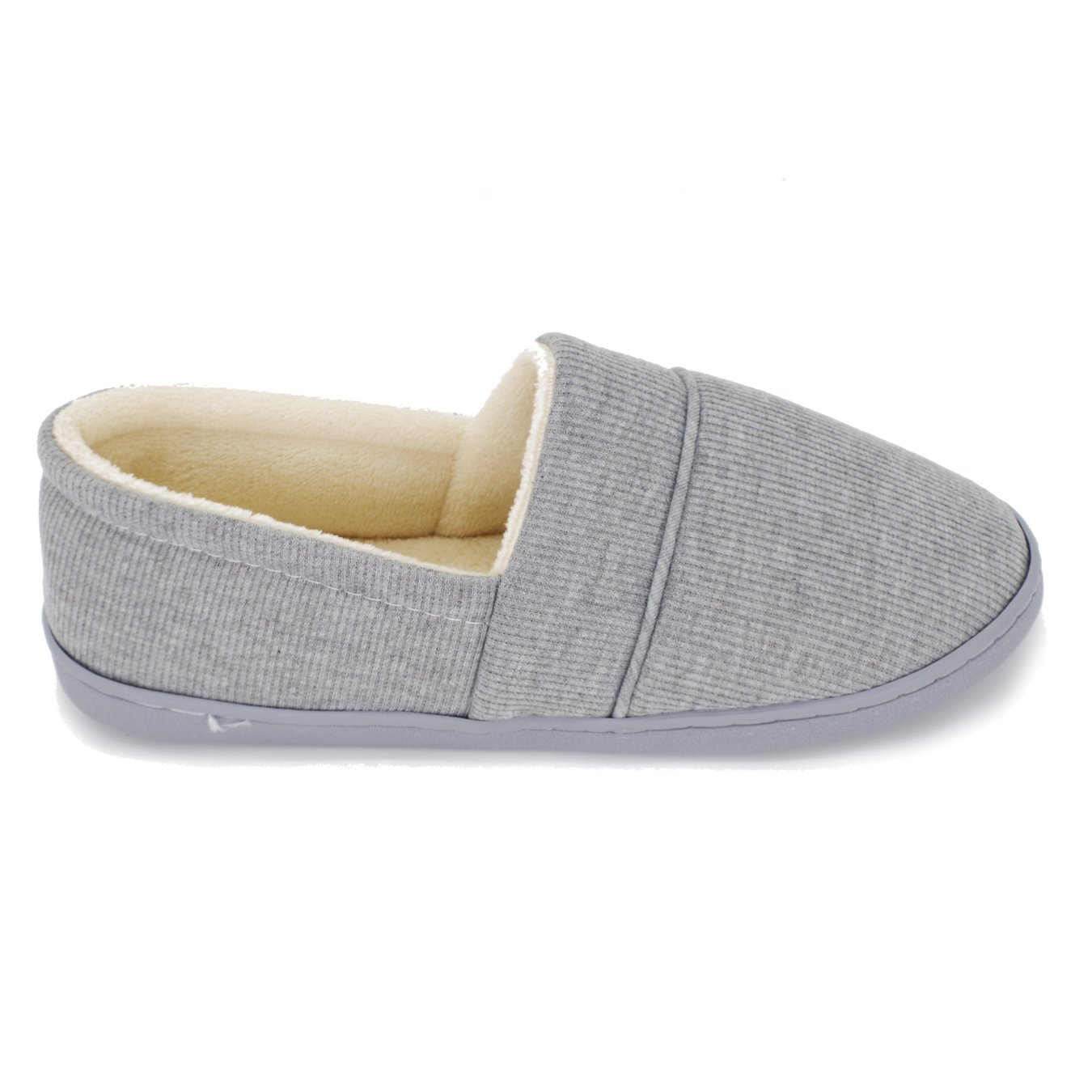 Moodeng Cotton Slippers for Women Knit Anti-Slip Lightweight Soft Comfort House Slippers Slip-on Velvety Home Shoes by Moodeng (Image #4)