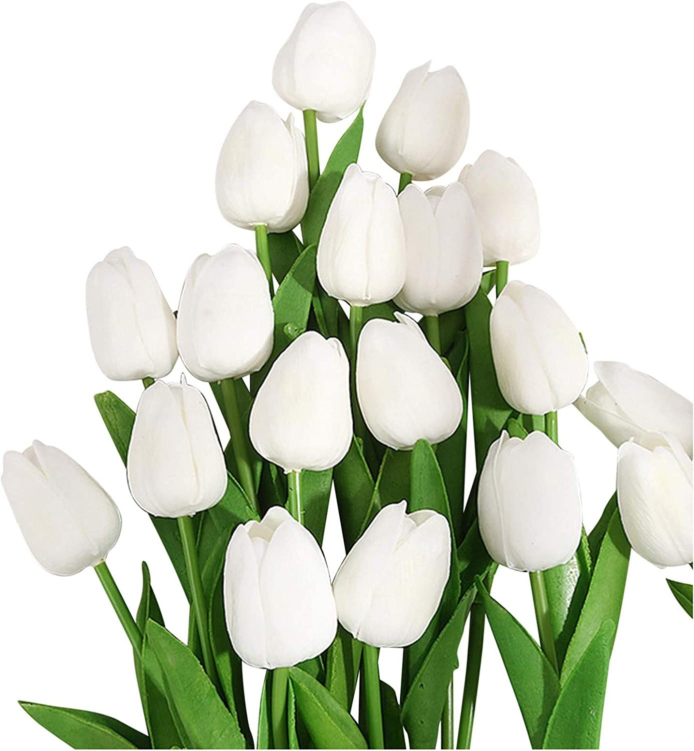 Artificial Tulips PU Fake Flower Bouquet Arrangement for Mother' Day Home Party Wedding Decoration (B)