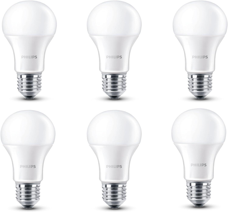 Philips LED Lampe ersetzt 40W, EEK A+, E27, warmweiß (2700 Kelvin), 470 Lumen, matt, Sechserpack, 8718696510124