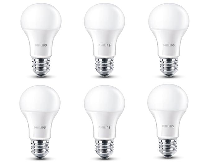 Philips - Bombilla LED, luz blanca cálida, 40 W, casquillo E27, regulable