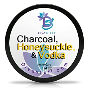 Diva Stuff Charcoal, Honeysuckle & Vodka | Spot Treatment for Cystic Acne | Blemish, Pimple & Hormonal Acne Treatment for Men, Women, Teens & Adults | Extra Strength, Fast Absorbing | 0.25 fl oz