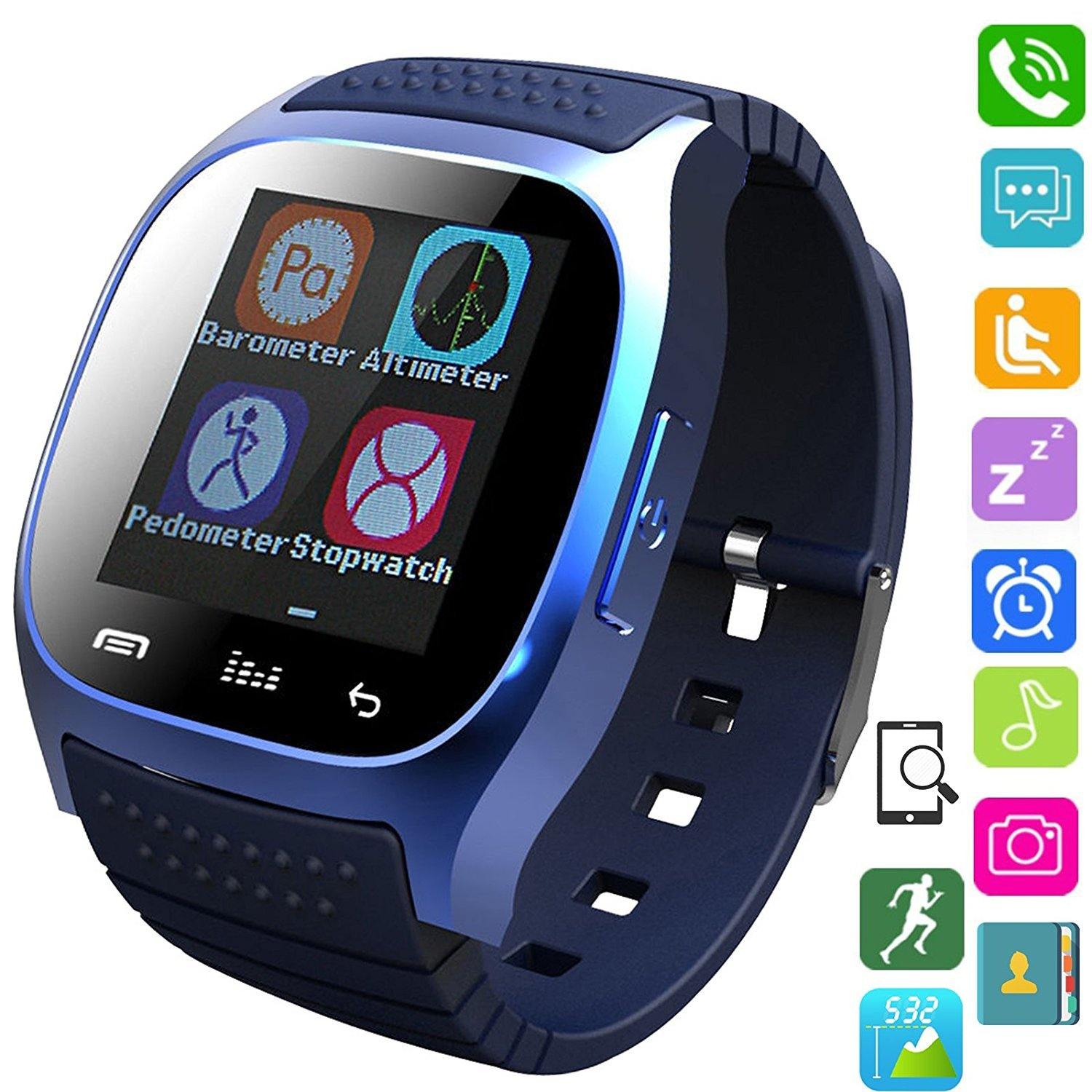 Amazon.com: Bluetooth Smart Watch Touch Screen Wristwatch for Samsung Galaxy S4/S5/S6/S7 Edge Note 3/4/5 HTC Nexus Sony LG Huawei Android Smartphones ...