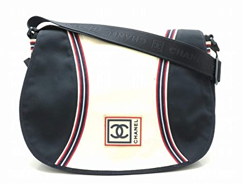 079b14912162 [シャネル] CHANEL スポーツライン ショルダーバッグ 斜め掛け ロゴ ココマーク ナイロンキャンバス ネイビー