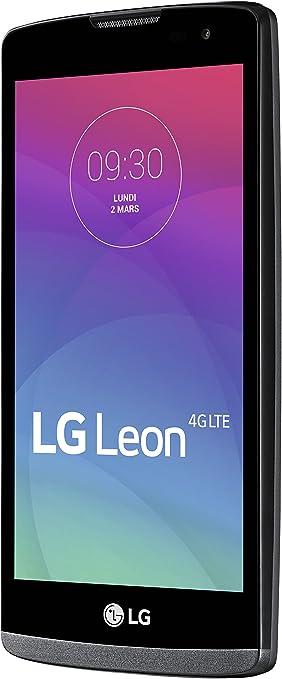 LG Leon - Smartphone Libre 3G (8 GB, Pantalla: 4,5 Pulgadas, SIM Simple, Android 5.0 Lollipop) Gris (Importado): Amazon.es: Electrónica