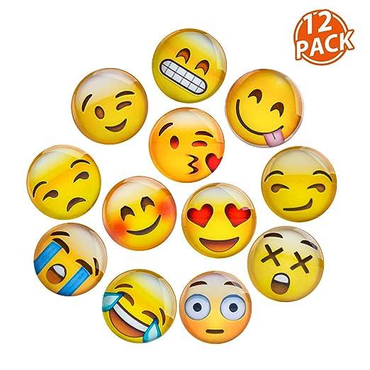 Lesfit Emoji Imanes, 12 Pieza Imanes Frigorifico Divertidos de ...