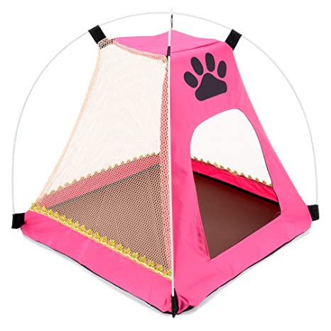 SMALLLEE LUCKY STORE Paw Print Dog Refugio Solar Tienda Impermeable Perros Perros Gatos Ropa de Cama