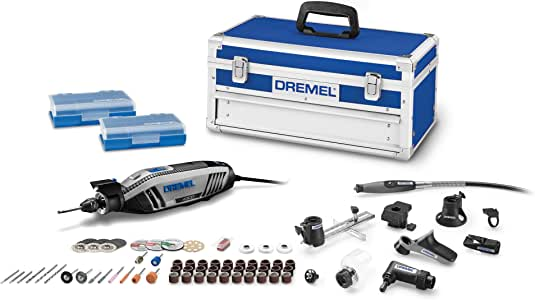 Dremel 4300-9/64 Rotary Tool Kit with Flex Shaft- 9 Attachments & 64 Accessories- Engraver, Router, Sander, and Polisher- Perfect for Grinding, Cutting, Wood Carving, Sanding, Engraving, and Routing