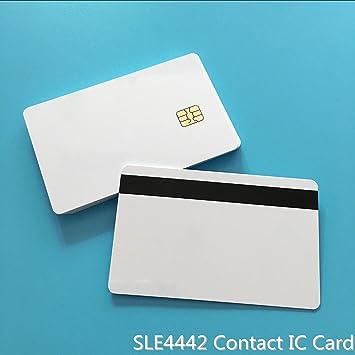 SLE4442 contact IC tarjeta personalizable 2 en 1 SLE4442 con ...