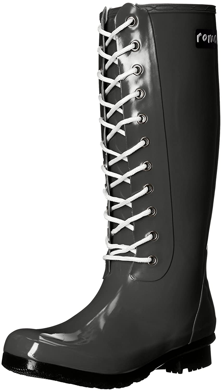 Roma Boots Women's OPINCA Lace-up Rain Boots B01L97D8MO 5 B(M) US|Kale