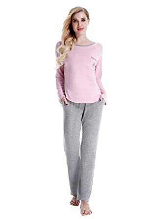 29dd5fd58b19 NORA TWIPS Women's Pajama Set, Ladies Long Sleeves Pyjama Sets, Pajama Sets  for Women, Women Soft Pajama Set, Full Length Tops & Bottom Pjs Set  Nightwear ...