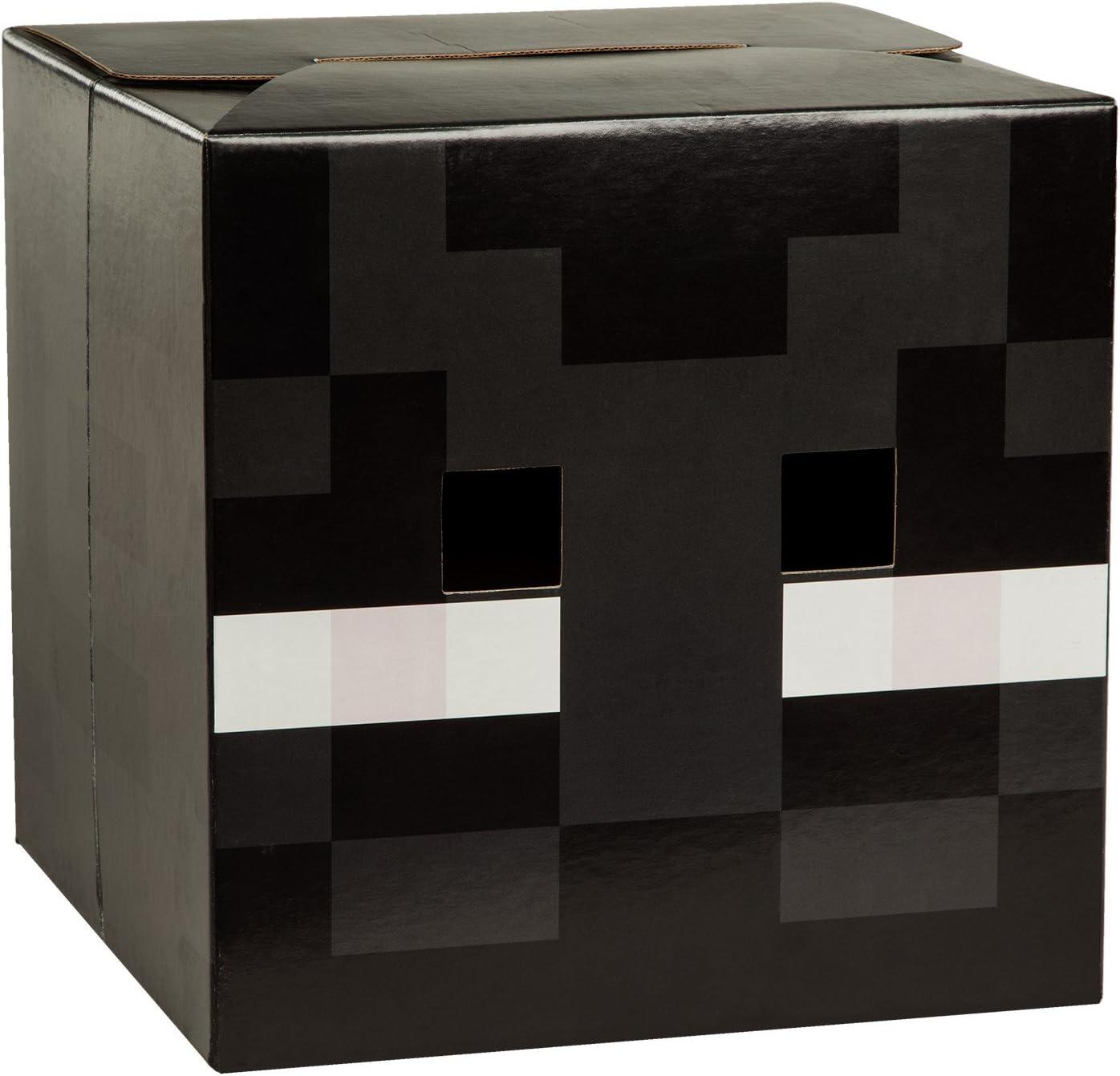 JINX Minecraft Enderman Head Costume Mask, Cardboard, 9x9x9 inches