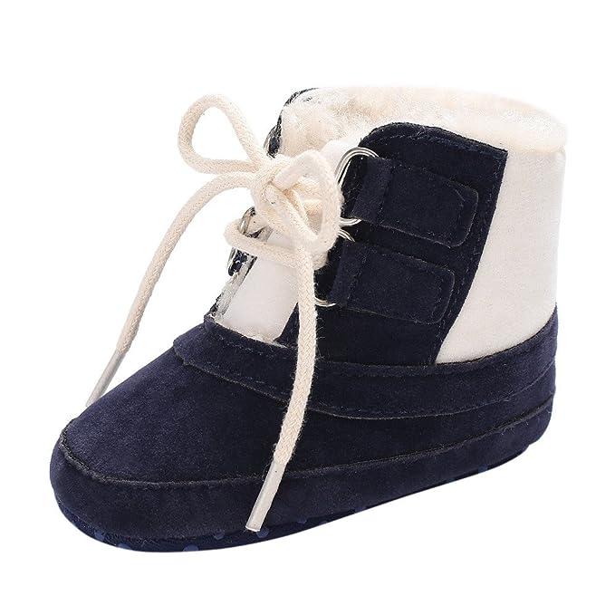 YanHoo Zapatos para bebés Bebé más algodón cálido Correas Botas Zapatos de niño Mantener Caliente Botines Suaves Botas para la Nieve Infant Toddler Newborn ...