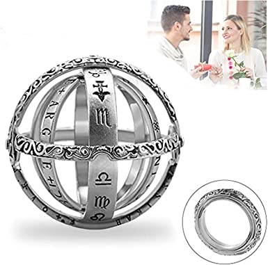 NEW Vintage Astronomical Sphere Ball Ring Cosmic Finger Ring Lover Gift Jewelry~