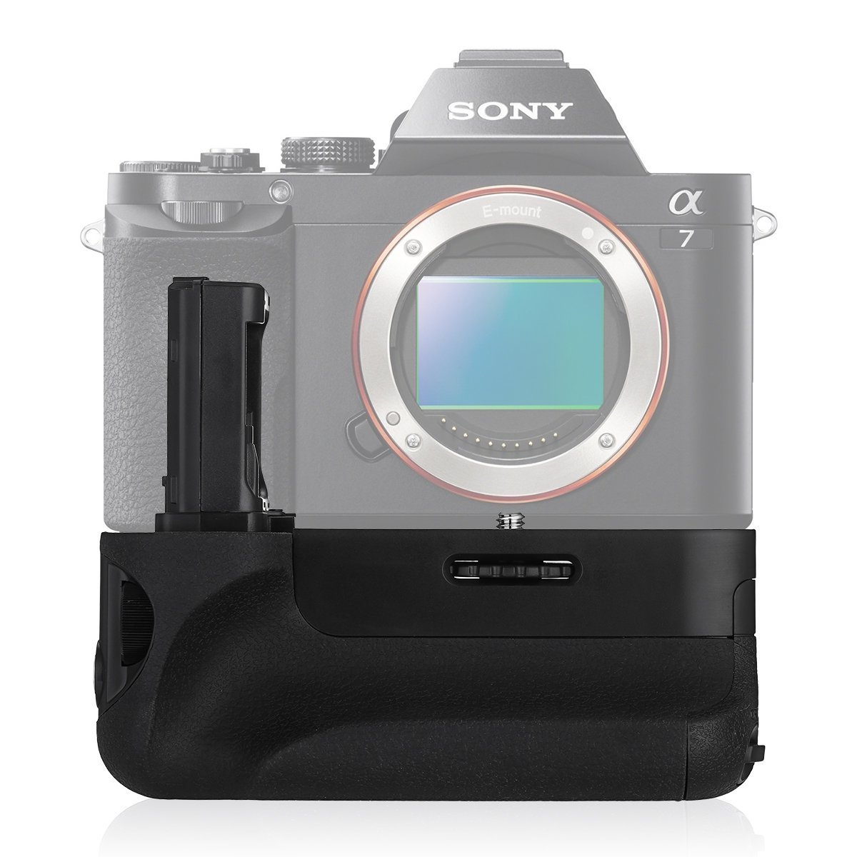 Powerextra VG-C1EM Battery Grip Replacement for Sony Alpha A7/A7S/A7R Digital SLR Camera Work with NP-FW50 Battery