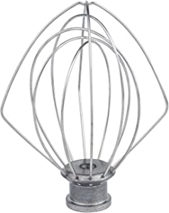 K45WW 6-Wire Whip Attachment Fits KitchenAid Tilt-Head Stand Mixer, Stainless Steel Egg Heavy Cream Beater, Cakes Mayonnaise Whisk