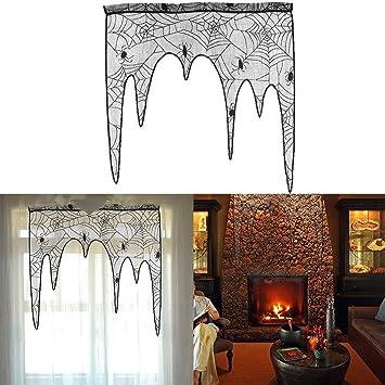Amazon.de: BESTOYARD Halloween Dekoration Black Lace Spiderweb ...