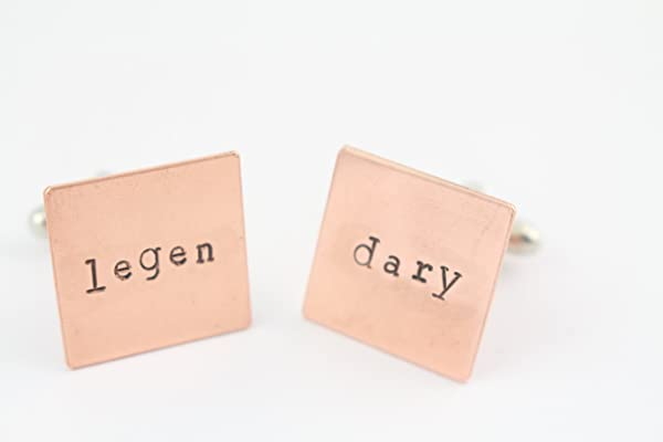 Legendary Copper Cufflinks - Legen Dary Cuff Links - Shirt Fasteners