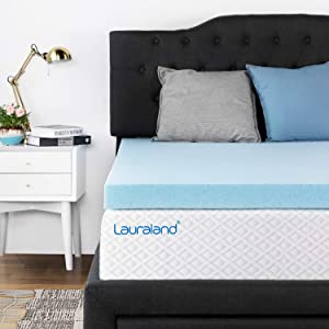 Lauraland Memory Foam Mattress Topper King, 3 Inch Active Cooling Design Bed Topper, CertiPUR-US 10-Year Warranty