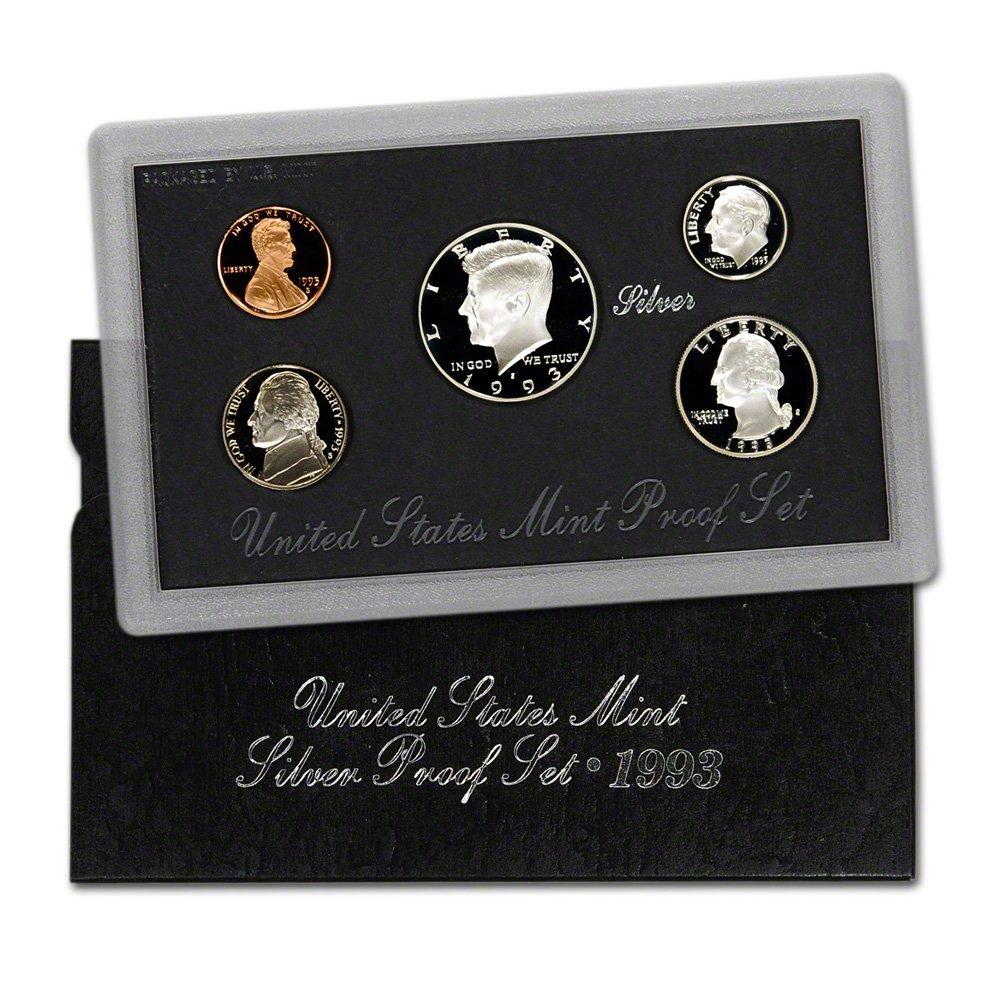1993 SILVER PROOF SET AND COA REPLACEMENT BOX NO COINS GREAT BOX TOP QUALITY