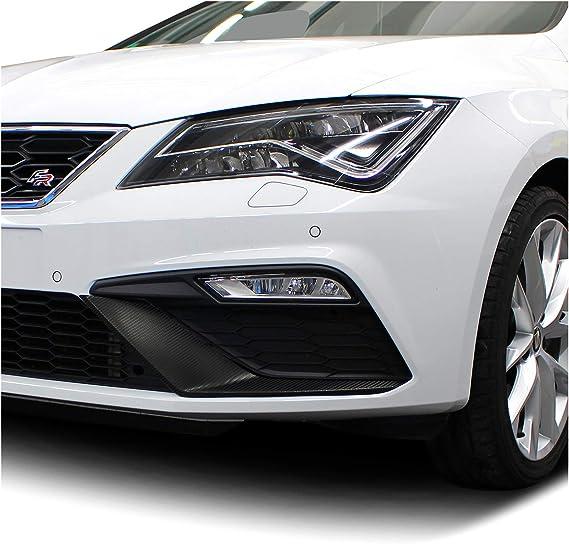 Folie Dekor Für Spoiler Flap Wing Stoßstange Front Splitter Selbstklebend Passgenau Kfz Auto Zubehör Carbon Schwarz Facelift D049 Auto