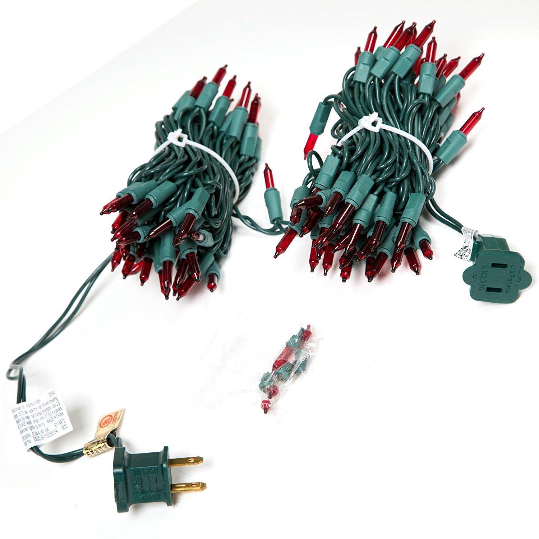 2-pack Holiday Wonderland 100-Count Red Christmas Light Set Noma//Inliten-Import B01M35F82C