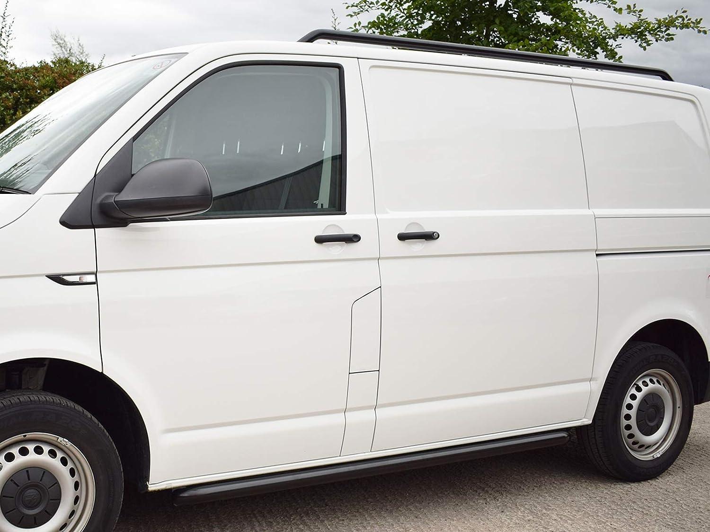 LWB 03-15 Van Demon Sportline Style Black Steel Side Bars Step Rails for VW Transporter T5