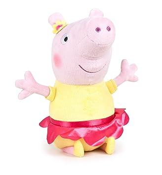 Peluche Peppa Pig - bailarina amarilla - 30 cm