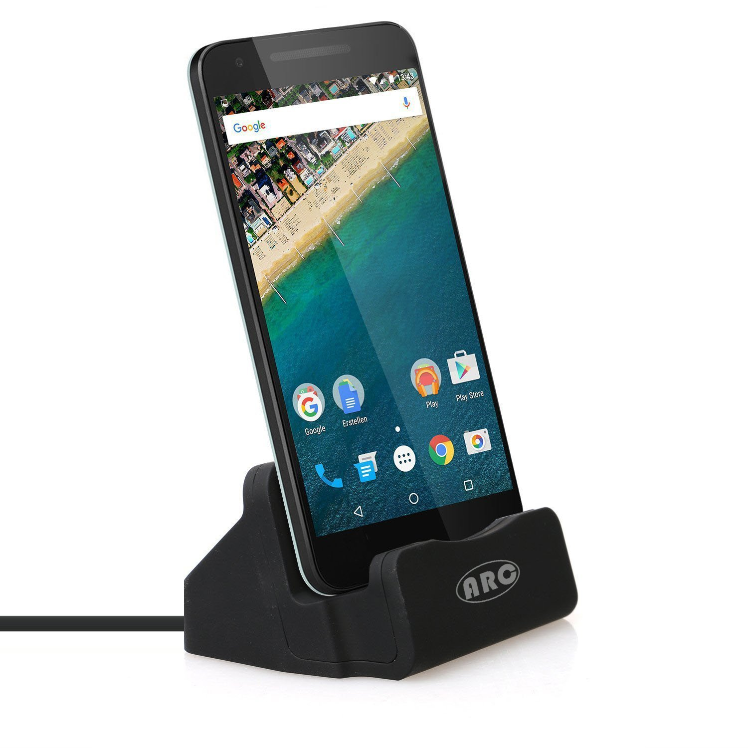 USB C Dock, USB Type C Charging Station Sync Dock for Nexus 5X Google Nexus 6P and Other Type-C Mobile Phone (Black)