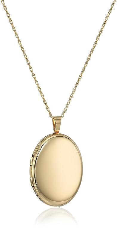 Amazon 14k gold filled large polished oval locket necklace 30 14k gold filled large polished oval locket necklace 30quot aloadofball Images