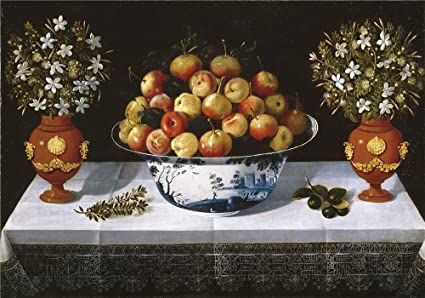 Amazon Com Oil Painting Hiepes Tomas Delft Fruit Bowl And Two