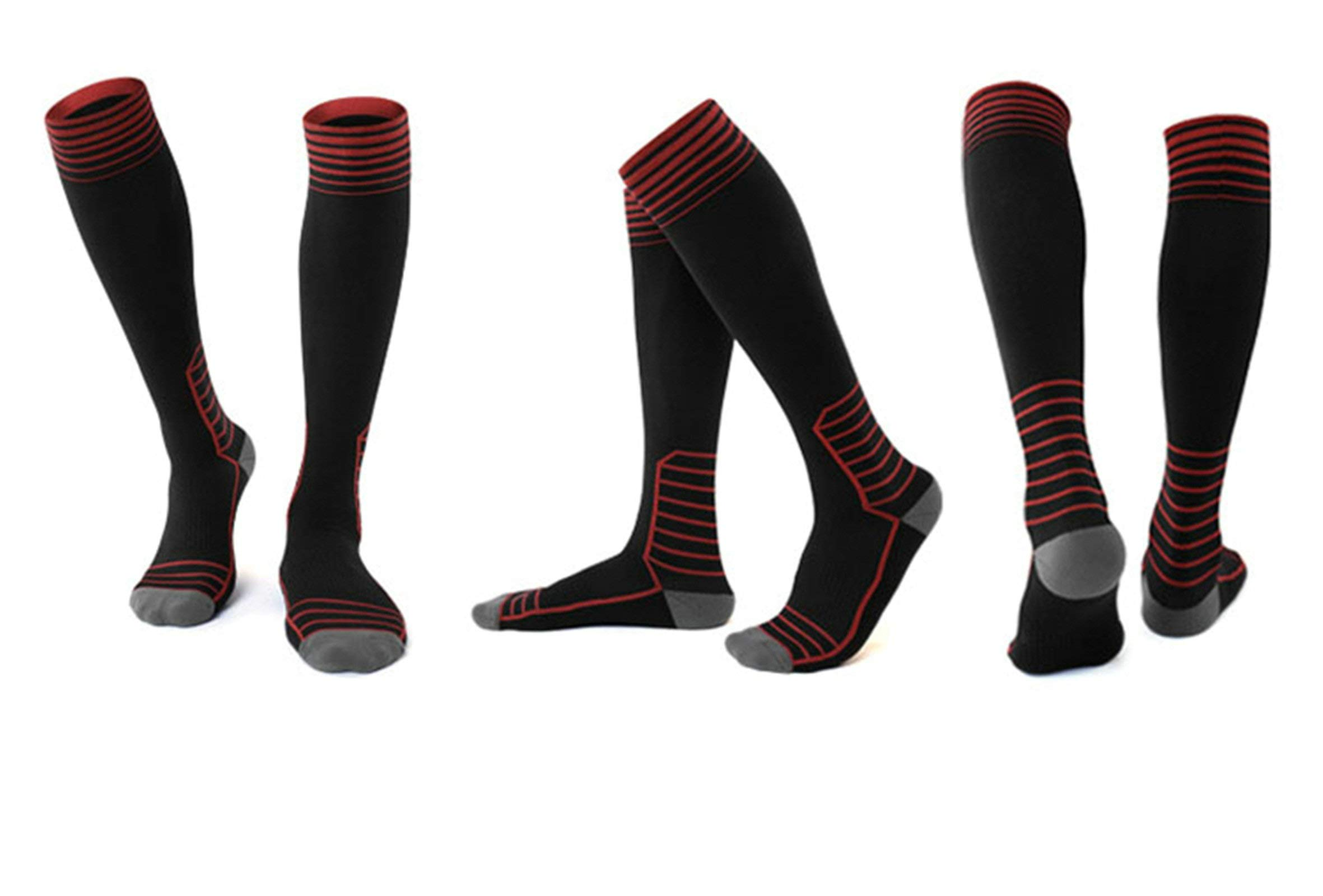 Leggings Riding Socks Long Tube Compression Socks Long Tube Running Socks L Code 39-43 Black Five Pairs