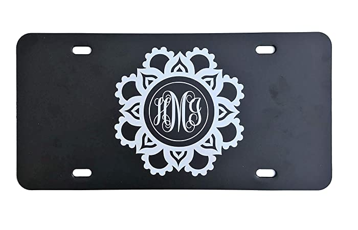 Personalized Front License Plates >> Amazon Com Personalized Vanity Plate Monogrammed Front License