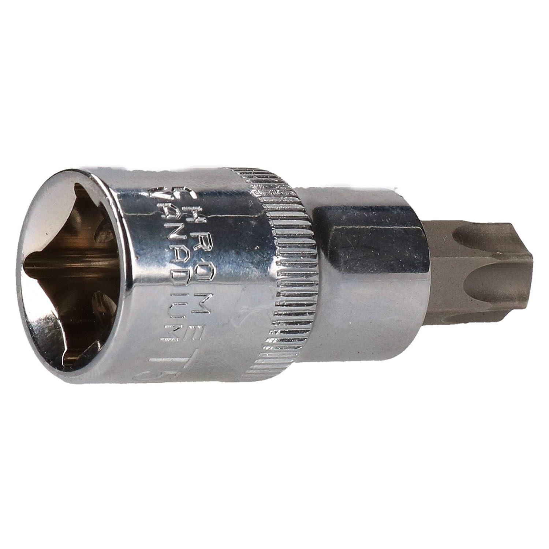 T55 x 55mm 1//2 Torx /étoile embase m/âle T-Star Steel Cr-V AU638