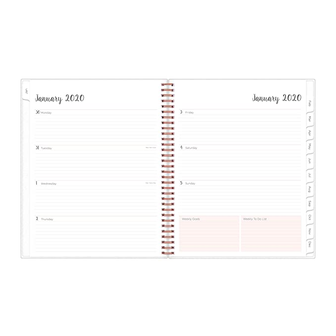Blue Sky 2020 Weekly & Monthly Planner, Flexible Cover, Twin-Wire Binding, 8.5