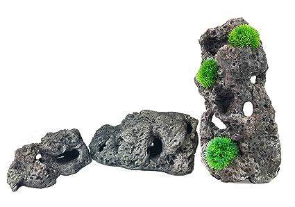 Aqua Maniac - Figura decorativa para acuario con forma de cueva de pez para peceras,