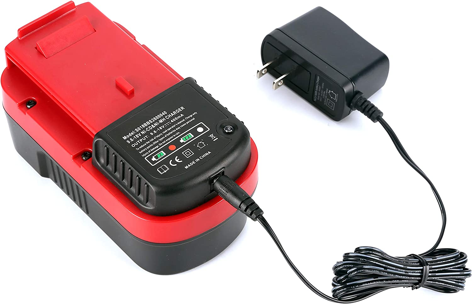 UNGINO S018BBS2600040 Battery Charger for Black Decker 9.6V-18V NI-CD/&NI-MH Slide Style Batteries HPB18 HPB18-OPE HPB