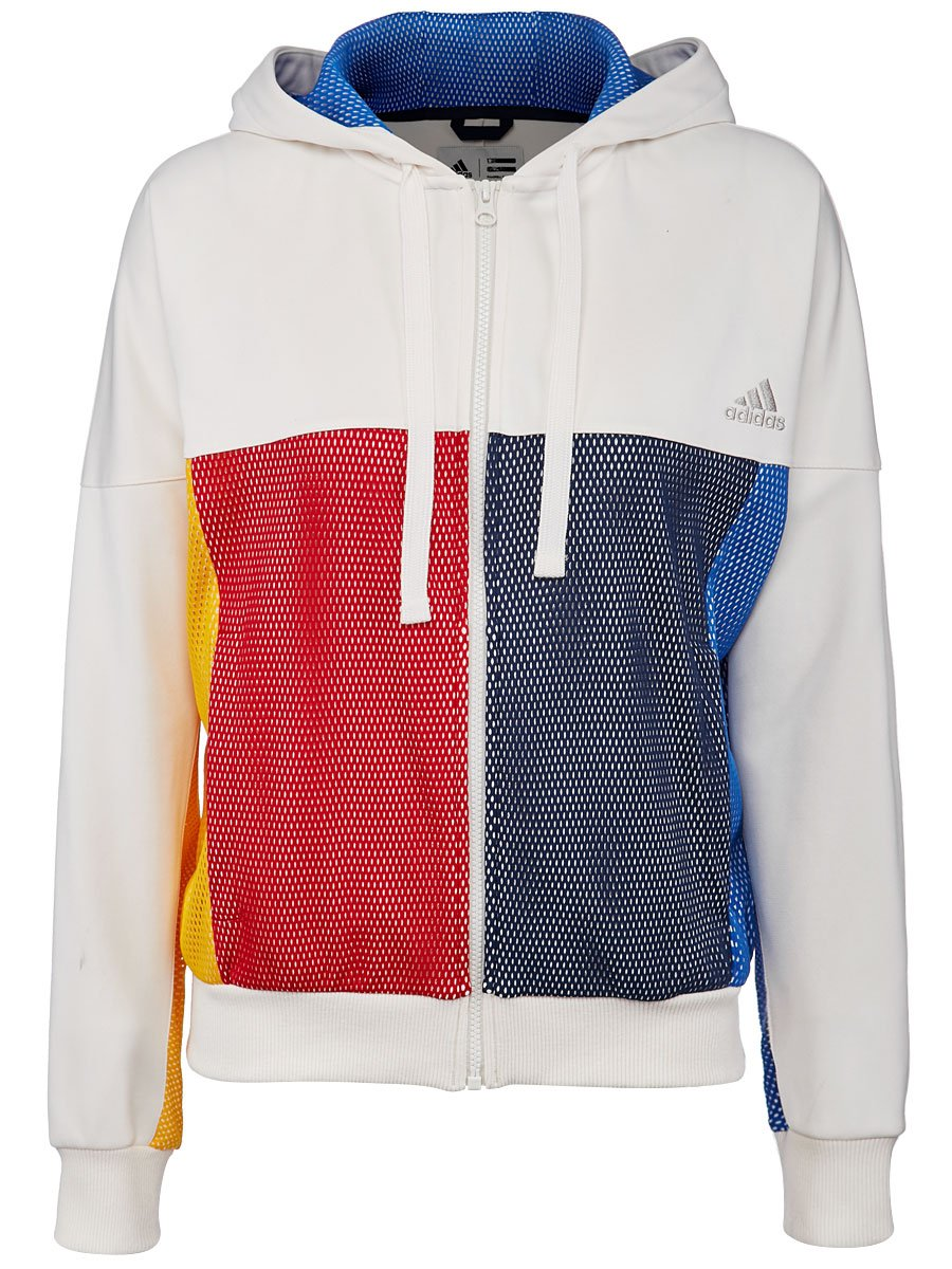 ADIDAS BR3557-F17 Women`s New York Pharrell Williams Tennis Jacket Chalk White by adidas (Image #1)