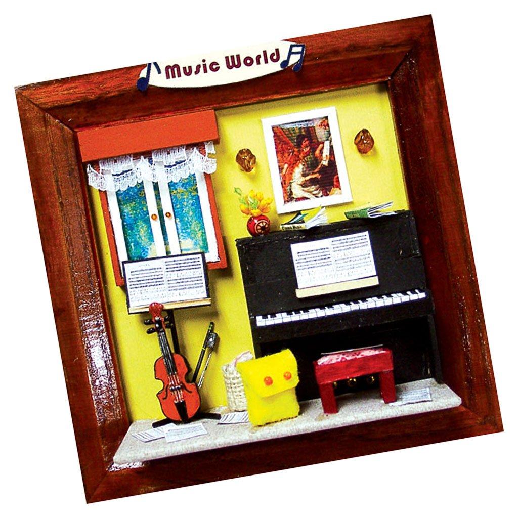 MagiDeal Diy Mini Puppenhaus Bilderrahmen Modell Kinder Spielzeug ...