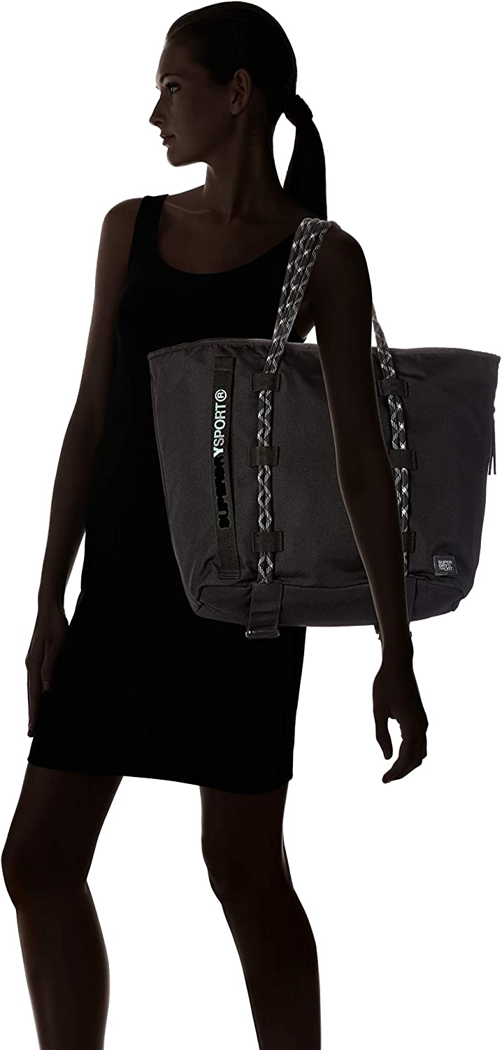 B x H T 40x20x34 cm Black Noir Sac de plage femme Superdry Fitness Tote
